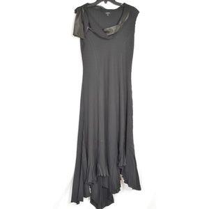 Komarov Dresses - Komarov dress SZ L black crinkle material cowl nec